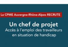 RECRUTEMENT :  Chef de projet | Accès à l'emploi des travailleurs en situation de handicap